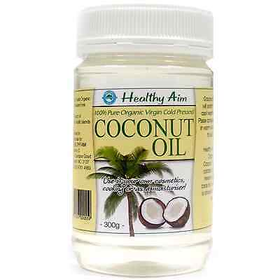 Certified ORGANIC 100% Pure Virgin COCONUT OIL Cold Pressed 300g Premium