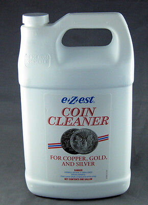 e-Zest Coin Cleaner 1 Gallon Size Tarnish Remover for Silver, Gold &Copper Coins