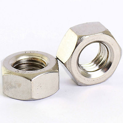 A2 Stainless Steel Fine Pitch Hexagon Full Nuts Hex Nut