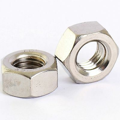 M8 X 1.0Mm A2 Stainless Steel Fine Pitch Hexagon Full Nuts Hex Nut 5 Pack
