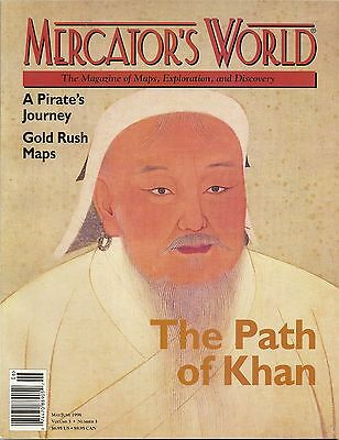 1998 MERCATOR'S Map Magazine Mongol Empire Cuba Canada Ortelius Gold Rush