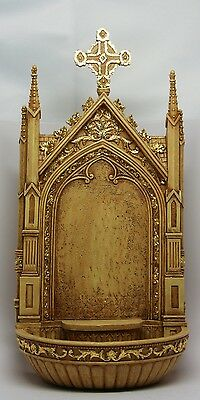 Holy Water Font Shrine Statue Collect Figurine Museum Christianity Inspiration