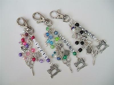Personalised Sewing/Haberdashery/Dressmaker Bag Charm-3 colours to choose from