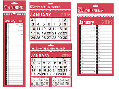 2019 Wall Calendar Slim Calendar,Easy View Calendar,Large Month to View Planner