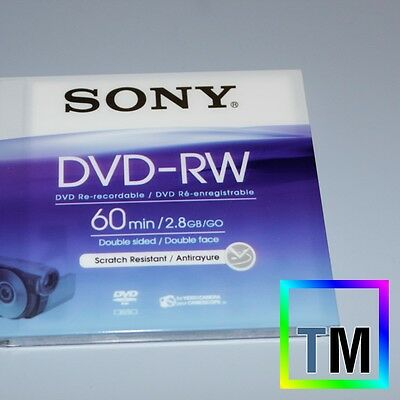 GENUINE Sony 8cm 60 min Mini DVD-RW disc for DCR-DVD201