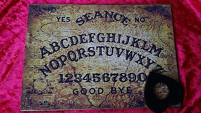 Wooden Magic Old South America Oracle Ouija Board & Planchett spirit ghost hunt