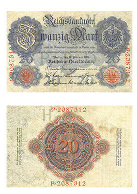 REICHSBANKNOTE - 20 Mark