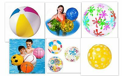 "Inflatable Beach Ball Holiday Swimming Pool Party - 16"" 20"" 24"" 48"" - design"