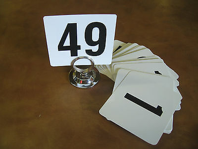 1-50 Double Side Plastic Table Number Cards Banquet Set NEW! FREE SHIPPING!!