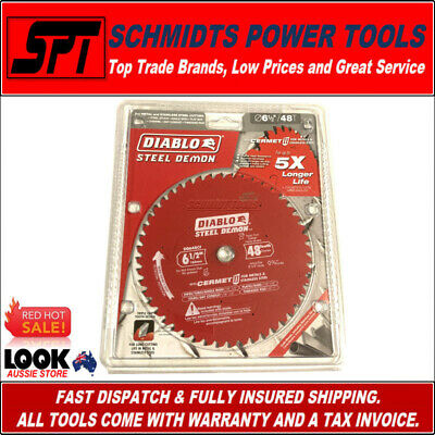 """FREUD 48T 6-1/2"""" 165mm FERROUS METAL CUTTING SAW BLADE FOR CORDLESS SAWS D0648F"""