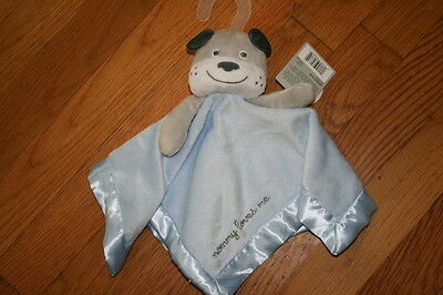 NWT NEW Carters Dog Puppy Mommy Loves Me Security Cuddle Lovey Blanket