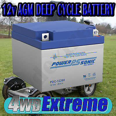 PDC12260NB 28AH BATTERY AGM SLA 12 VOLT 12V DEEP CYCLE  GOLF CART 26ah BUGGY