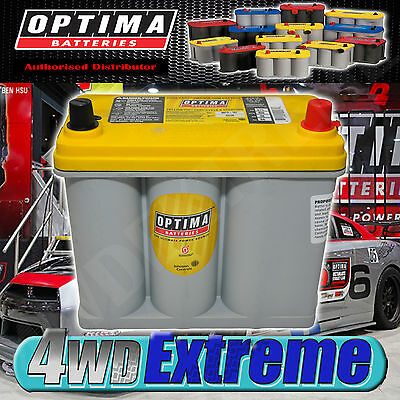 Optima Yellow Top Battery 12 Volt New Agm D51R 450Cca Deep Cycle Car Ice R35 Gtr