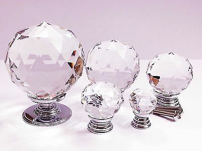 Top Quality Crystal Glass Door Knobs Drawer Cabinet Furniture Kitchen HandleTop