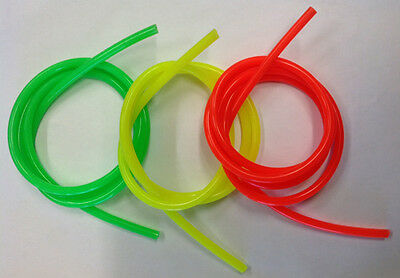 Assorted Flourescent Silicone Fuel Tube (3 x 1m)