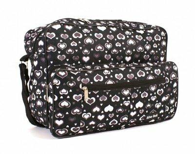 Womens Overnight Weekend Bag Ladies Travel Gym Hand Luggage Holdall Hearts