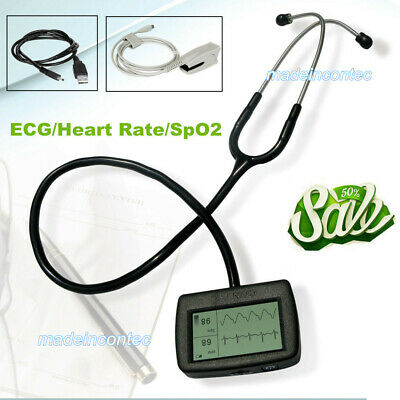 Hot Sale Visual Multi-Function Electronic Stethoscope CMS-M,with SPO2 ECG Wave