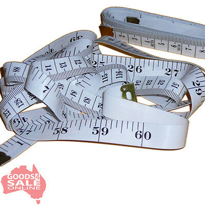 "2 x Tailor's Metric / Imperial Sewing Measuring Tape Measure 150cm/60"" - BNIP"