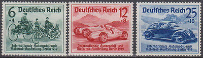 GERMANY 1939,SC# B134-B136,Berlin Auto Expo Deutsches Reich mi# 686-688 OG MNH,o