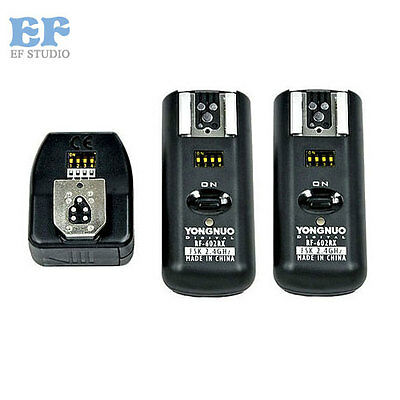 Yongnuo RF-602 RF602 2.4GHz Wireless Remote Flash Trigger 2 Receivers for Canon