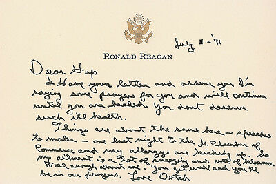ALS: Ronald Reagan Writes to the Wife of the Man who Gave him his First Job