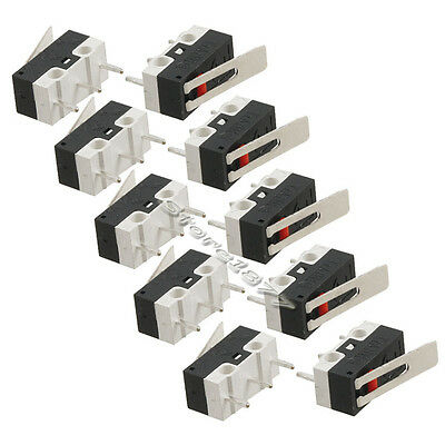 10pcs 3Pins Long Hinge Lever Momentary SPDT Mini Micro Switch AC 125V 2A s658