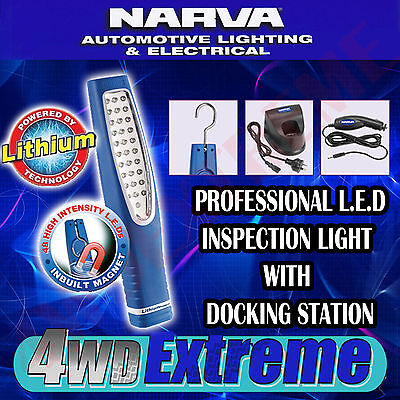 Narva 71320 Led Rechargable Cordless Inspection Work Light L-Ion Battery See Ezy