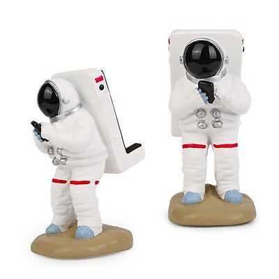 Motif. Space Astronaut Figure Desk Accessory Cell Phone Stand Holder