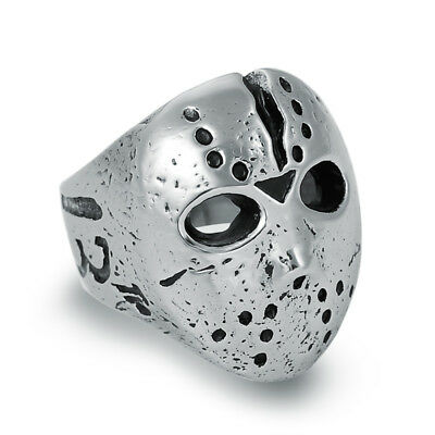 Wholesale 4Pcs Men's Jewelry Stainless Steel Friday 13th Jason Mask Rings W025