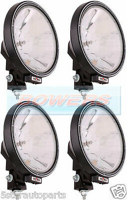 """4 x 12V/24V 9"""" ROUND SPOT/DRIVING/BAR LAMPS/LIGHTS TRUCK/LORRY/4X4/OFF ROAD"""