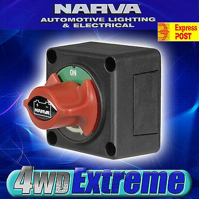 Narva Boat Marine Master Battery Isolator Cut Off Kill Switch 12 24 Volt 61082Bl
