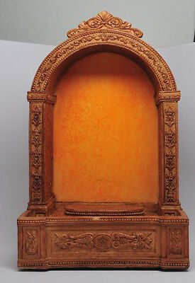 """Christianity Decorative Holy Water Font Shrine Figurine Display 11.5""""H Statue"""