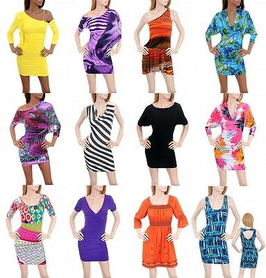 WHOLESALE LOT New Evenning Party Club wear Cocktail Casual Mini SUN DRESS S M L