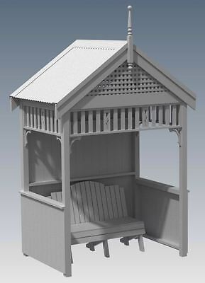 FEDERATION OUTDOOR GARDEN RETREAT HIDE AWAY V02 - Full Building Plans 3D and 2D
