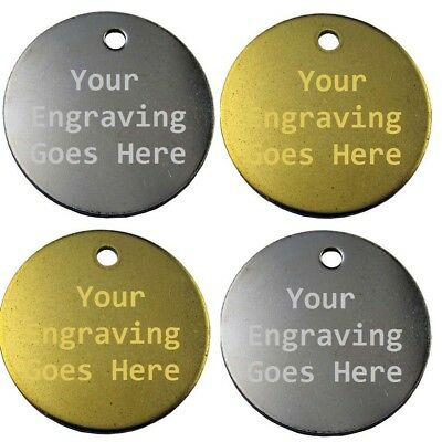 Pet Tags Engraved DOG/CAT ID 20mm/25mm FREE Post Engraved Extra DEEP By Computer