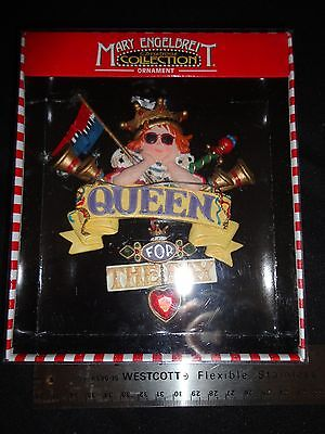 """Mary Engelbreit """"Queen For The Day"""" Ornament Nib"""