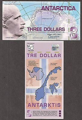Antarctica Fantasy Note - Three Dollars - 2007 - Polymer and CU