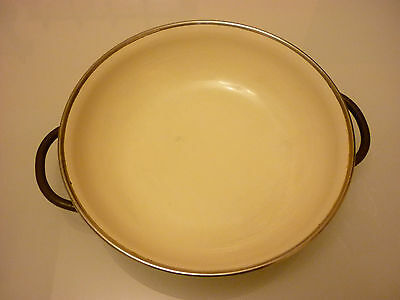 "Vintage 6"" Paella Skillet Pan - Quality Enameled Thick Metal - Perfect Condition"
