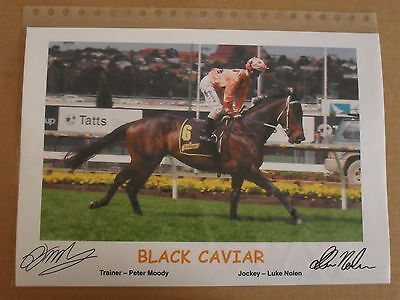 BLACK CAVIAR signed Print