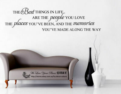 """""""The Best Thing in Life"""" Wall Art Quotes Removable Sticker Decal Decor Mural DIY"""