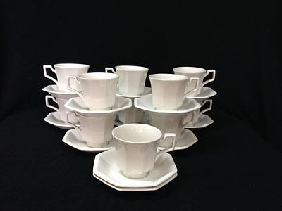 JOHNSON BROTHERS HERITAGE White Tea Cups and Saucers x 6 - EUR 28,02 ...