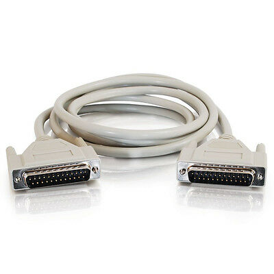 10Ft. IEEE-1284 DB25 RS232 Male to Male Serial Parallel Cable (10 Feet) SC-10MM