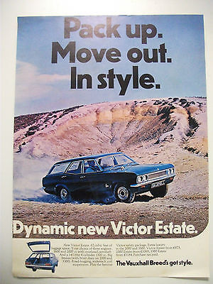 1968 Vauxhall Victor Estate Fullpage Colour Magazine Advertisement