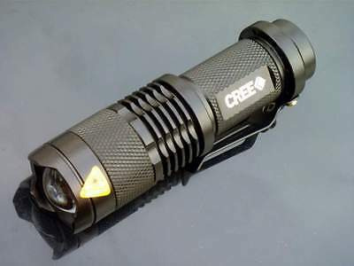 500 Lumen 3 Mode CREE Q5 LED Zoomable AA Flashlight WC Torch Zoom 14500 Black