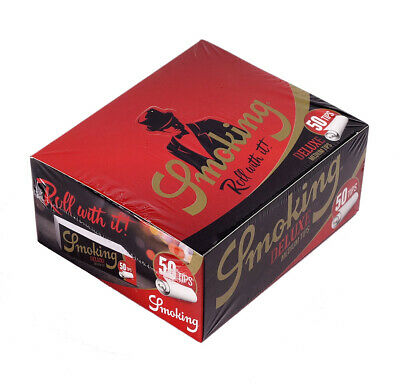 1 Box (50x) Smoking Deluxe Filter Tips 50er slim perforiert Filtertips Papers