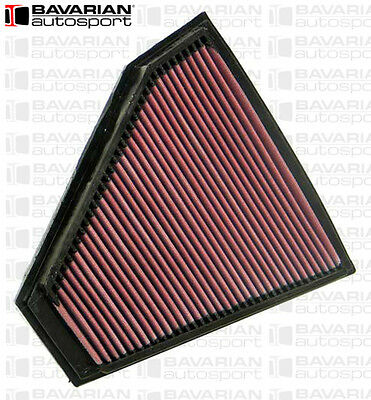 K & N High Performance Cleanable Engine Air Filter - For BMW E90 325i 328i 330i