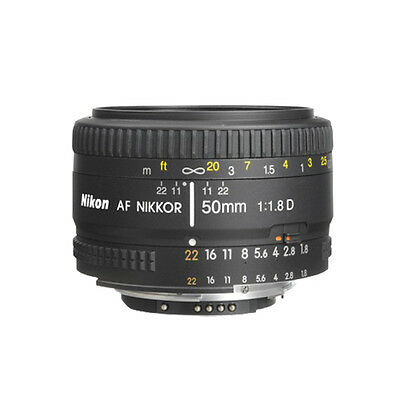 Nikon 50mm f/1.8D AF Nikkor Lens for Nikon Digital SLR Cameras NEW ORIGINAL BOX