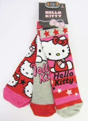Girls Hello Kitty Socks 3 Pair Pack