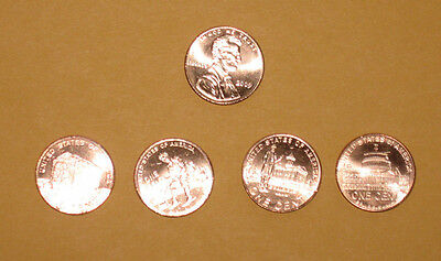 2009 Lincoln Penny - complete set of 4 BU coins from rolls
