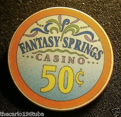 Fantasy Springs 50 Cents Casino Chip, Indio California, Nice Colorful Chip L@@k